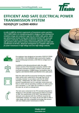 Efficient and safe electrical power transmission system