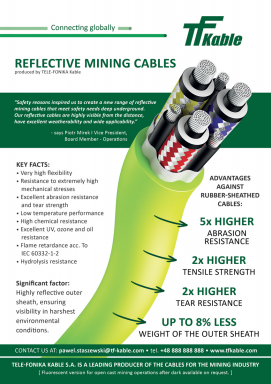 Reflective mining cables