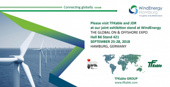 JDR and TFKable, part of the TFKable Group, will present their joint technology and production capabilities during WindEnergy Hamburg