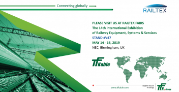 Railway sector with the TFK.Group at Railtex in Birmingham, UK