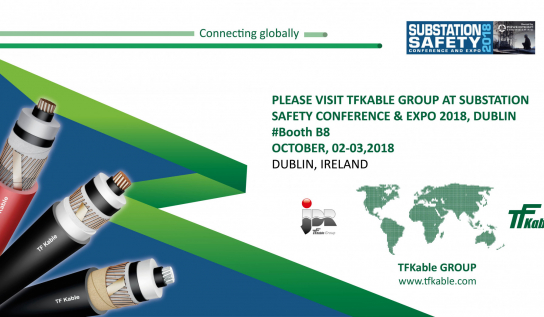 TFKable Group will be presenting LV, MV and HV cables and its offshore capabilities through JDR Cables Systems at the Substation Safety Conference & Expo 2018, Dublin.