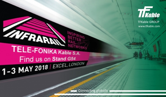 TFKable to present fire integrity power and emergency alarm cables at InfraRail 2018