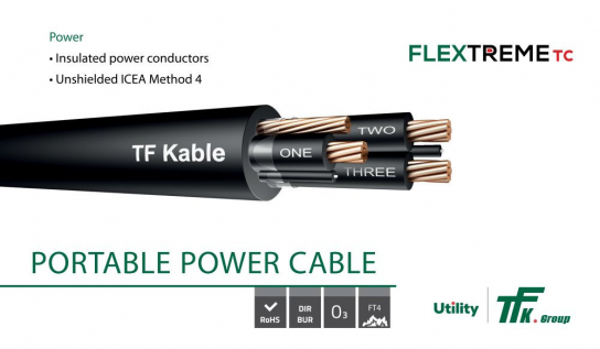 Extremely durable and flexible FLEXTREME TC cables