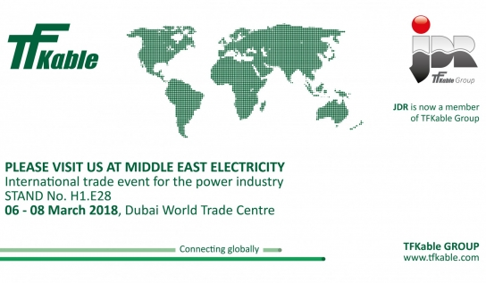 TFKable Group participates once again in MEE in Dubai
